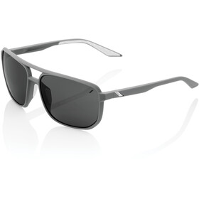100% Konnor Aviator Square Lunettes, soft tact dark haze/smoke